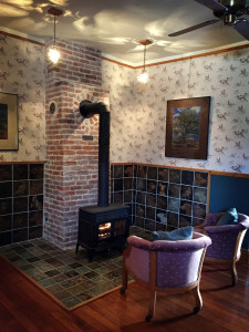 Fireplace with Hand Crafted Tiles by Charles