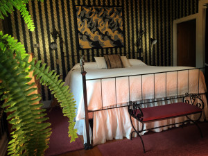 King Size Bed with Custom Bronze Bed Post